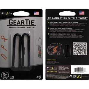 NITE IZE ヘッドフォンキーパーツ GEAR TIE 6inc ブラック GT62PK01
