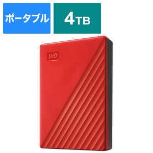 WESTERN DIGITAL USB 3.1 Gen 1(USB 3.0)/2.0対応 ポータブルHDD WD My Passport 4TB レッド WDBPKJ0040BRDJESN