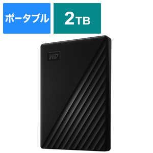 WESTERN DIGITAL USB 3.1 Gen 1(USB 3.0)/2.0対応 ポータブルHDD WD My Passport 2TB ブラック WDBYVG0020BBKJESN