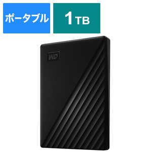 WESTERN DIGITAL USB 3.1 Gen 1(USB 3.0)/2.0対応 ポータブルHDD WD My Passport 1TB ブラック WDBYVG0010BBKJESN