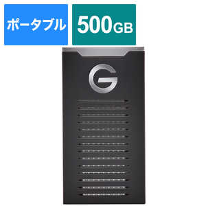 SANDISKPROFESSIONAL USB 3.2 Gen 2対応ポータブルSSD 【G-DRIVE SSD】 ブラック [500GB /ポータブル型] SDPS11A500GGBANB