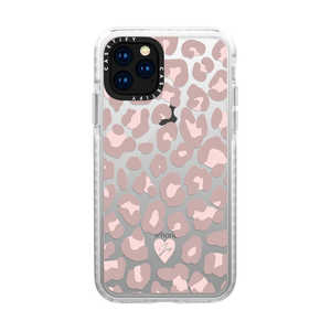 CASETIFY iPhone 11 Pro 5.8インチ Dusty Pink Leopard Phone Case CTF631856916000085