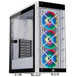 CORSAIR 強化ガラス採用 ATX対応 ミドルタワーPCケース 465X RGB White CC9011189WW