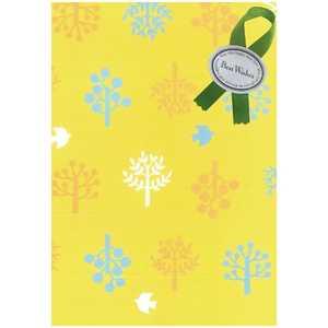 ドットコム ラッピング用紙 黄色柄用紙(緑色リボン) 23 ドットコム専用 カデンラッピング23