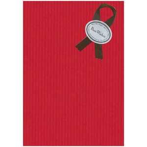 ドットコム ラッピング用紙 赤用紙(茶色リボン) 28 ドットコム専用 カデンラッピング28