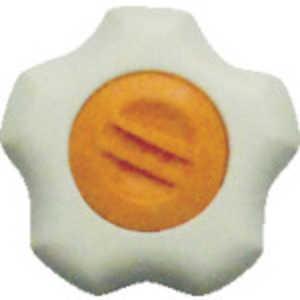 三星産業貿易 三星 フィットノブ M6 本体/白 キャップ/橙 (5個入り) ドットコム専用 FITWM6O5P