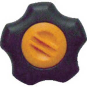 三星産業貿易 三星 フィットノブ M8 本体/黒 キャップ/橙 (5個入り) ドットコム専用 FITKM8O5P