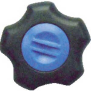 三星産業貿易 三星 フィットノブ M12 本体/黒 キャップ/青 (5個入り) ドットコム専用 FITKM12B5P
