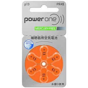 シャルマン 補聴器用電池 空気亜鉛電池/無水銀タイプ powerone [6本 /PR48(13)] PR48_13 PW048