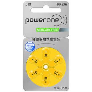 シャルマン 補聴器用電池 空気亜鉛電池/無水銀タイプ powerone [6本 /PR536(10)] PR536_10 PW536