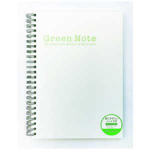 クラスタージャパン 「目に優しいグリーンノート」ダブルリングノート[紙色:ミドリ/A5] IAWRGNA5