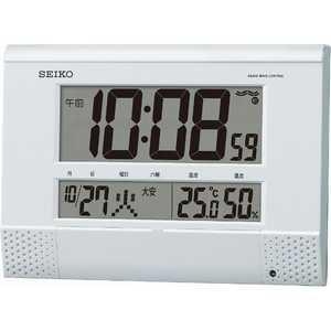 セイコー 電波掛置兼用時計 白 SQ435W