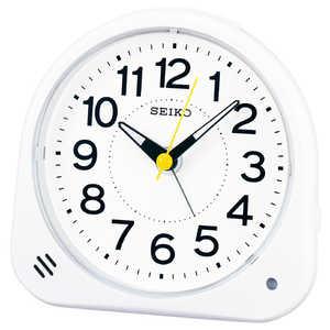 セイコー SEIKO 目覚まし時計 【自動点灯】 白 KR510W