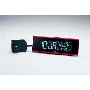 セイコー SEIKO 目覚まし時計 【シリーズC3】 赤メタリック DL307R