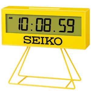 セイコー SEIKO 目覚まし時計 【ミニスポーツタイマー】 黄色 SQ817Y