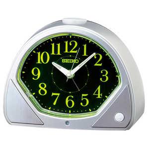 セイコー SEIKO 目覚まし時計 【自動点灯】 銀色メタリック KR511S