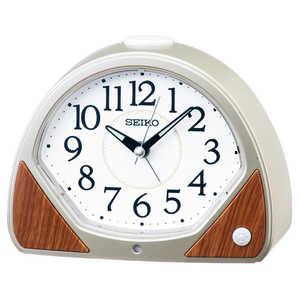 セイコー SEIKO 目覚まし時計 【自動点灯】 薄金色パール KR511G