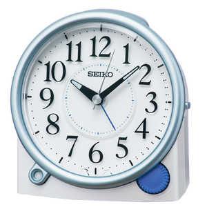 セイコー SEIKO 目覚まし時計 【自動点灯】 白パール KR515L