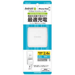 多摩電子工業 タブレット/スマートフォン対応[USB給電] ホワイト TA91UW