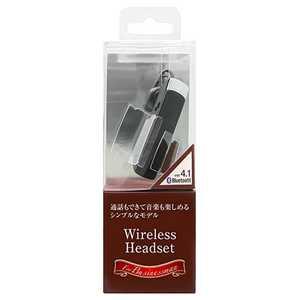 オズマ スマートフォン対応[Bluetooth4.1] 片耳ヘッドセット USB充電ケーブル付 ブラック BT11BK