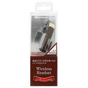 オズマ スマートフォン対応[Bluetooth4.1] 片耳ヘッドセット USB充電ケーブル付 ブラウン BT11BR