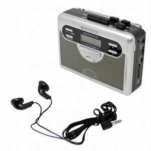 WINTECH ラジオ付テープレコーダー PCT-11R ラジカセ/CDラジオ
