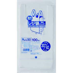 ジャパックス 業務用強力レジ袋(100枚入)(乳白色) RJJ-30 30号 ドットコム専用 XLZ4405
