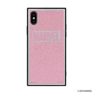 HAMEE [iPhone XS/X専用]MARVEL マーベルTILEケース ロゴ ピンク IPXSMVTILEピンク