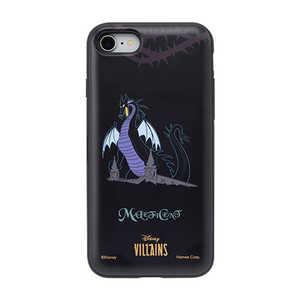 ディズニーキャラクター Latootoo カード収納型 ミラー付きケース iPhone 8/7/SE(第2世代)用 [マレフィセント]