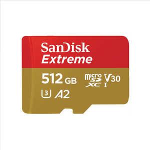 サンディスク microSDXCカード Extreme(エクストリーム) [512GB/Class10] SDSQXA0512GJN3MD