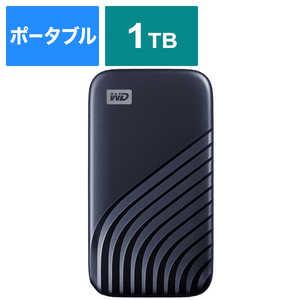 WESTERN DIGITAL 外付けSSD USB-C+USB-A接続 My Passport SSD 2020 Hi-Speed ブルー [ポータブル型 /1TB] ブルー WDBAGF0010BBLJESN