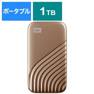WESTERN DIGITAL 外付けSSD USB-C+USB-A接続 My Passport SSD 2020 Hi-Speed ゴールド [ポータブル型 /1TB] ゴールド WDBAGF0010BGDJESN