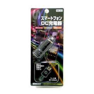 モバイルライフ ウィルコム 車載用充電器 micro USB 1m BK MB83