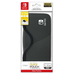 キーズファクトリー QUICK POUCH for Nintendo Switch Lite チャコールグレー HQP-001-4 QUICKPOUCHforNint