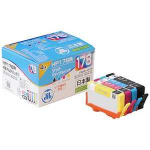 ジット 互換リサイクルインク カートリッジ 4色セット JITH1784P