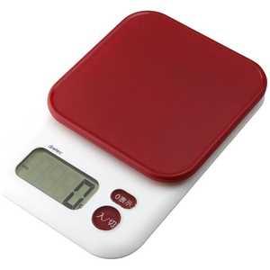 ドリテック デジタルスケール「ガナッシュ」(3kg) レッド KS805RD