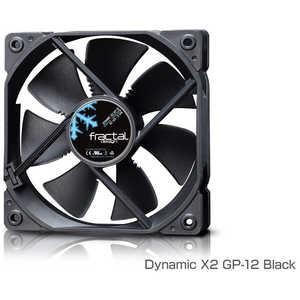 FRACTALDESIGN ケースファン[120mm/1200RPM] Fractal Design Dynamic X2 GP-12 Black ブラック FDFANDYNX2GP12BK