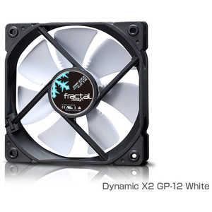 FRACTALDESIGN ケースファン[120mm/1200RPM] Fractal Design Dynamic X2 GP-12 White ホワイト FDFANDYNX2GP12WT
