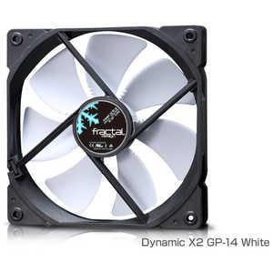 FRACTALDESIGN ケースファン[140mm/1000RPM] Fractal Design Dynamic X2 GP-14 White ホワイト FDFANDYNX2GP14WT