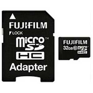 富士フイルム FUJIFILM microSDHCメモリーカード(SDHC変換アダプタ付き) 「Class10対応/32GB」 FMCSDHC032GC10