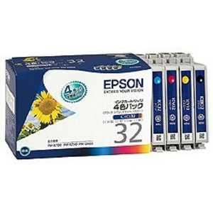 エプソン EPSON インクカートリッジ 4色セット IC4CL32