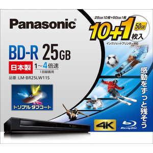 パナソニック Panasonic Panasonic 録画用 BD-R 1-4倍速 25GB 10枚+50GB 1枚 1L11P LMBR25LW11S