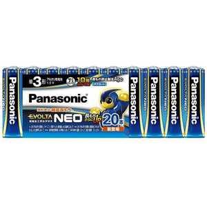 パナソニック Panasonic Panasonic 「単3形」20本 アルカリ乾電池 「エボルタネオ」 EVOLTANEO LR6NJ20SW