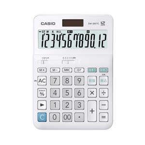 カシオ CASIO W税計算対応電卓 DW200TCN