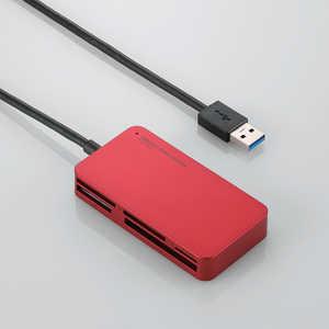 エレコム ELECOM メモリリーダライタ/USB3.0対応/スリムコネクタ/レッド レッド MR3A006XRD