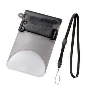 エレコム ELECOM スマートフォン用防水・防塵ケース セルフィー特化 Lサイズ ブラック ホワイト PCWPSS02BK