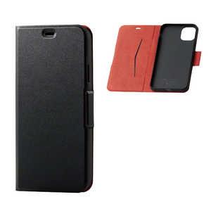 エレコム ELECOM iPhone 11 Pro Max 6.5インチ ソフトレザーケース 磁石付 薄型 ブラック ブラック PMA19DPLFUBK