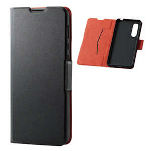 エレコム ELECOM AQUOS zero5G basic ソフトレザーケース 薄型 磁石付 ブラック ブラック PMS202PLFUBK
