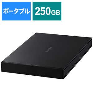 エレコム ELECOM 外付けSSD USB-A接続 (PS4対応) ブラック [ポータブル型/250GB] ブラック ESDEJ0250GBKR