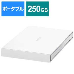エレコム ELECOM 外付けSSD USB-A接続 (PS4対応) ホワイト [ポータブル型/250GB] ホワイト ESDEJ0250GWHR